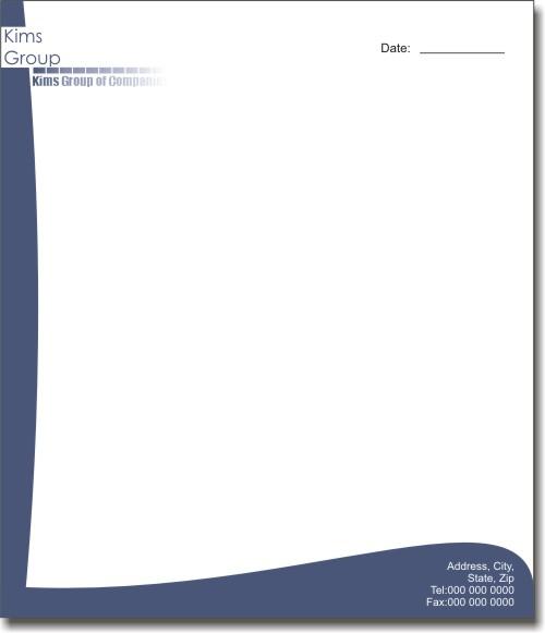 letter head- giấy in tiêu đề